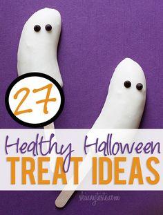 27 Freakin' Healthy Halloween Treat Ideas! #howdoesshe #desserts #recipes #halloweentreatsforkids howdoesshe.com