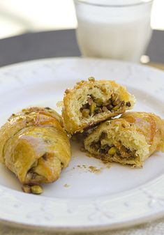 Baklava Crescent Rolls. Made with Pillsbury Crescents... so they can't be too hard!