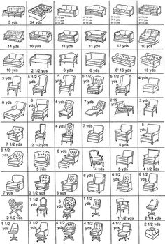 Fabric Upholstery Chart