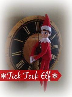 Tick Tock Elf! Counting down the days till Christmas! Over 25 Easy Elf on the Shelf Ideas to Get Creative with Your Elf This Year!
