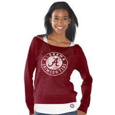 Alabama Crimson Tide Ladies Holy Sweatshirt Long Sleeve T-Shirt & Tank Top Set - Crimson