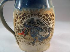 Blue Dragon and Lair Mug by FutureRelicsGallery on Etsy, $40.00