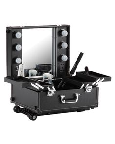 Portable makeup station on wheels
