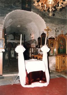 The wedding altar