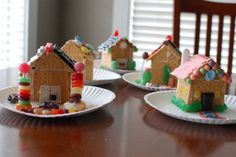 Gingerbread house made from graham crackers