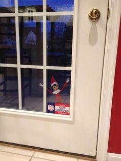 Elf on the Shelf Ideas slider, the doors, shelf idea, glasses, lock, front doors, place, christmas ideas, elves