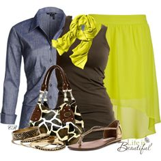 Lemon Lime, created by colierollers on Polyvore