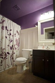 My Purple board and batten bathroom