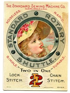 Victorian Trade Card, Sewing