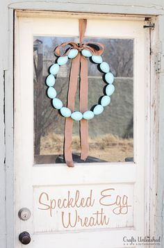 Speckled Egg Wreath Tutorial | Tried & True for Crafts Unleashed