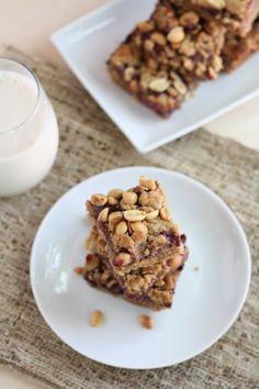 whole grain peanut butter & jelly bars