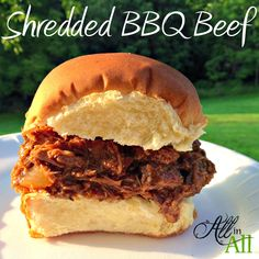 Looking for a great weeknight meal, potluck, or picnic dish? Then look no further! Everyone will love this sweet and tangy Shredded BBQ Beef!