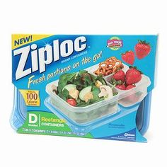 Ziploc Divided Container, Rectangle