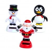 #Holiday #solar #buddies | Powered by uv light - no batteries required!  #santa  #penguin #snowman [just $2]