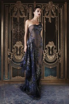 Embroidered Tulle Dress Rami Kadi Couture