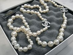 Chanel Pearl Necklace...all a girl really needs!