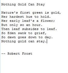 essay on nothing gold can stay
