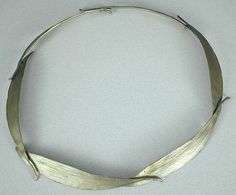 Michael Michaud's Eucalyptus Long Leaf collar rendered in Bronze.