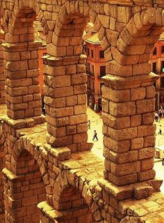 The Arches of the Roman Aqueduct, Segovia, Spain