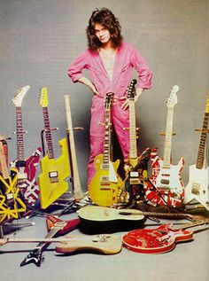 Eddie Van Halen's guitar collection is only surpassed by his pink jumpsuit collection.