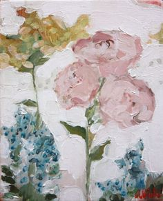 .abstract flower painting