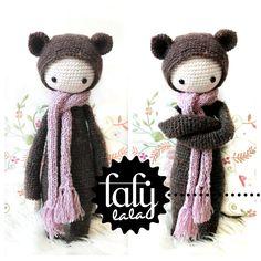 "Crochet Pattern Doll ""Bina the bear"" PDF., via Etsy."