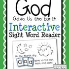 """""""God Gave Us the Earth"""" Interactive Sight Word Reader Freebie! Teach the days of Creation and a love of God's Earth with this Interactive Sight Word Reader."""