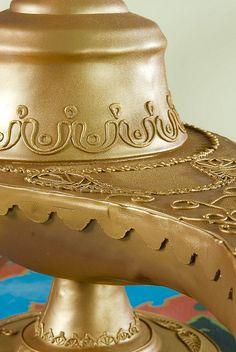 close up of Aladdin lamp cake