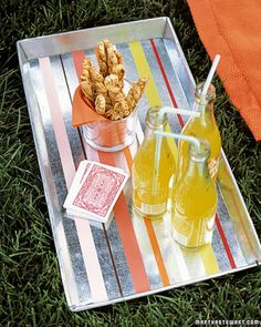 How to Make Striped Trays