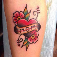 "Traditional ""MOM"" Tattoo"