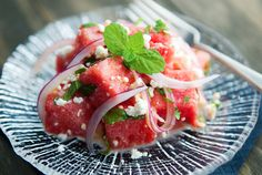 watermelon feta salad via use real butter