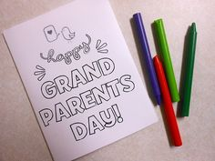 Free Printable Card for Grandparent's Day!