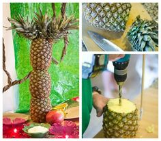 Make a pineapple palm tree for a #JungleFresh Jungle Book Movie Party