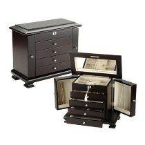 Seya Espresso Wooden Jewelry Box Jewelry Boxes