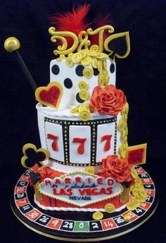 Las Vegas Wedding Cake from Sweet Surprises