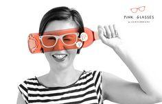 Creative packaging designs | Pink Glasses Wine Bottles