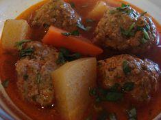 Authentic Sopa De Albondigas (Meatball Soup). Photo by Tiny_Toodles