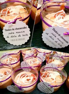 #Receta: Daditos de cheesecake sobre mousse de dulce de leche.