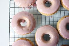 Rhubarb Vanilla Bean Donuts//