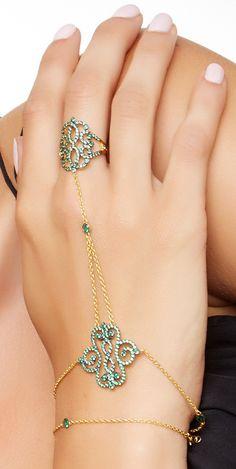 Crystal hand chain