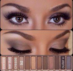 day makeup, eye makeup, urban decay, naked pallet, beauti, nake palett, wedding makeup, simpl eye, eyeshadow looks