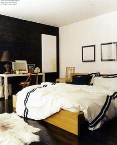 white wall. black wall.