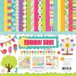 wheel, echo park, parks, paper crafting, papers, scrapbook pages, collect kit, summer days, banner