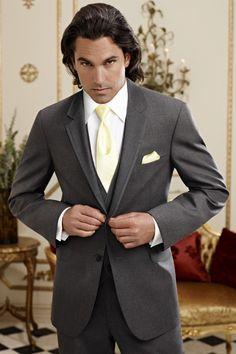 Street Tuxedo - Tuxedos - Suits - Jean Yves Steel Grey Moda