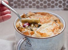 Skinny Minestrone Pot Pies