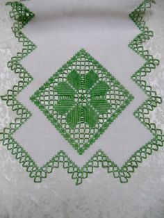 Vintage Antique Table Runner Hardanger Embroidery by VintageLinens, $42.00