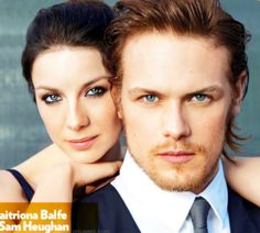 Sam Heughan and Caitriona Balfe from People Magazine from outlander-starz tumblr
