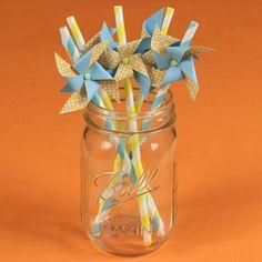 craft, printable templates, pinwheels, pinwheel topper, paper straws, summer parti, free printabl, kid birthday parties, printabl pinwheel