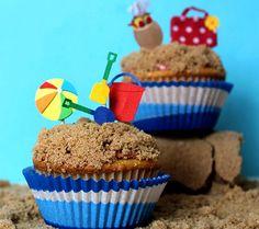 Day At The Beach Summer Cupcake Recipe