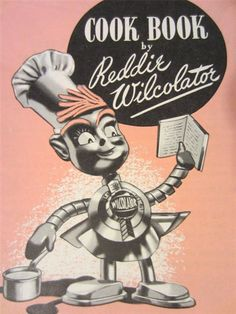 $15.00  Vintage 50s Cook Book by Reddie Wilocolator oven pamphlet rare advertising promo Booklet advertising Character kitschy